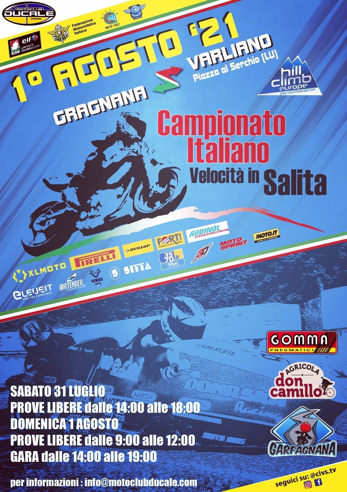 Garfagnana Manifesto Campionato in Salita 2021 ok